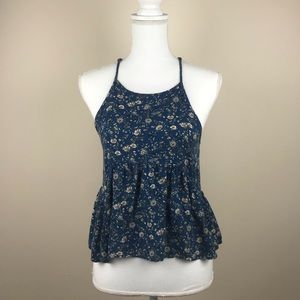 American Eagle Outfitters Floral Halter Blouse